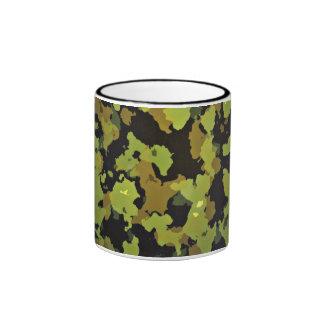 Camouflage Backdrop Ringer Coffee Mug