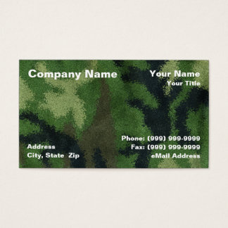 Camouflage Background Business Card