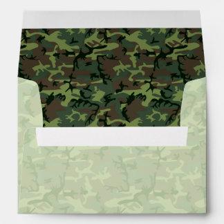 Camouflage Beige Green Brown Camo Pattern Envelope