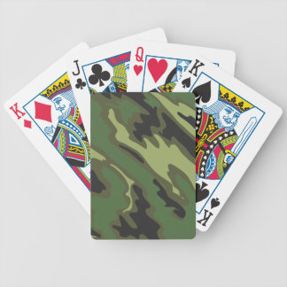 Camouflage Bicycle Playing Cards
