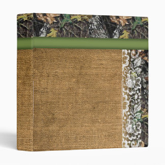Camouflage Binder with Burlap & Lace