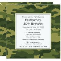 camouflage birthday party birthday invitations