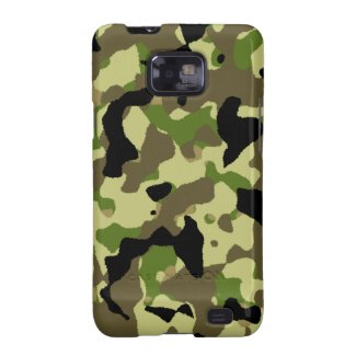 Camouflage Black Green Khaki Effect Galaxy S2 Galaxy S2  Cases