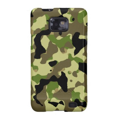 Camouflage Black Green Khaki Effect Galaxy S2 Samsung Galaxy Sii Cover