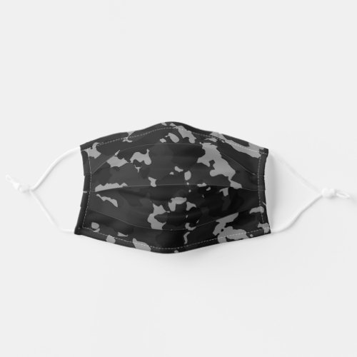 Camouflage Black Night Grey Camo For Him Cloth Face Mask