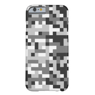 camouflage black & white design pixel art barely there iPhone 6 case
