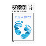 Camouflage Blue Baby Feet IT'S A BOY! STAMP