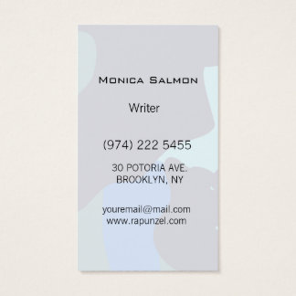 Camouflage Blue Business Card Template