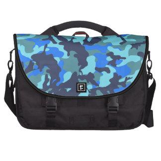 Camouflage Blue Laptop Commuter Bag