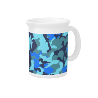 Camouflage Blue Pitcher