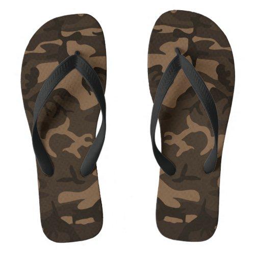 Camouflage Brown Flip Flops