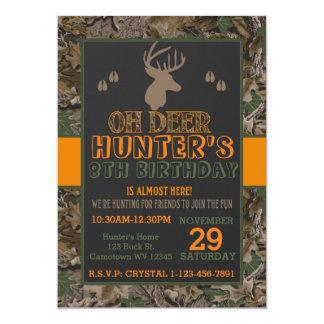 Camouflage Buck Deer Birthday Party Invitation