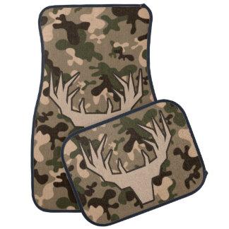 Camouflage Buck Silhouette Floor Mat
