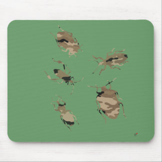 Camouflage Bugs Silhouette Mouse Pad