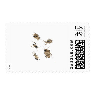 Camouflage Bugs Silhouette Postage