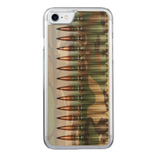 Camouflage Bullets Carved iPhone 7 Case