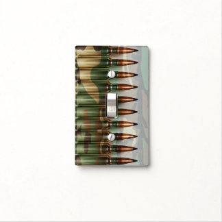 Camouflage Bullets Light Switch Cover