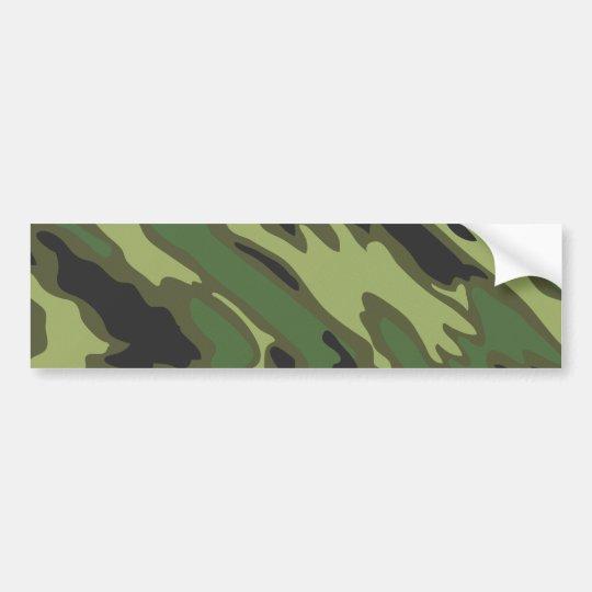 Camouflage Bumper Sticker