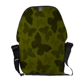 Camouflage Butterflies Messenger Bag