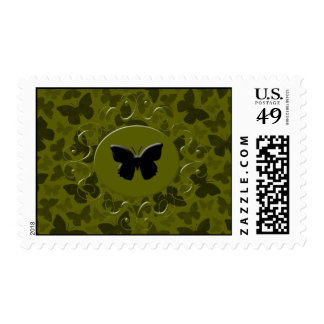 Camouflage Butterflies Postage Stamp