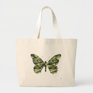 Camouflage Butterfly Silhouette Jumbo Tote Bag