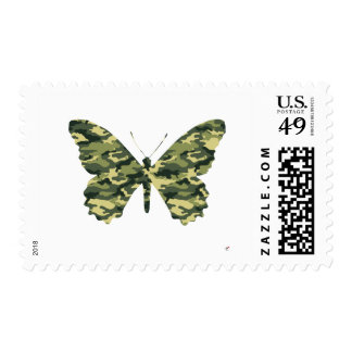 Camouflage Butterfly Silhouette Postage