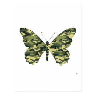 Camouflage Butterfly Silhouette Post Card