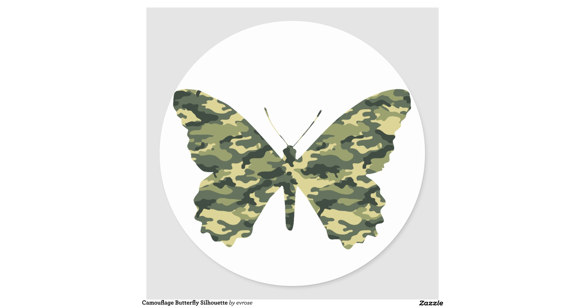 camouflage_butterfly_silhouette_sticker ...