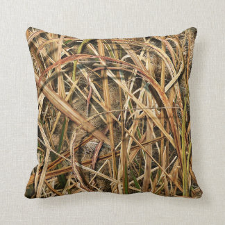 Camouflage By john Throw Pillows