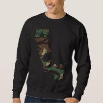 Camouflage California Flag State Bear Sweatshirt