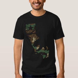 Camouflage California Flag State Bear T Shirt