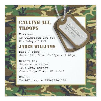 camo invitations & announcements | zazzle, Birthday invitations