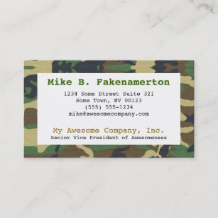 Camouflage business cards templates zazzle camouflage camo business card colourmoves