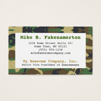 Camouflage / Camo Business Card