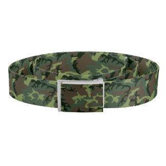 Camouflage Camo Green Brown Pattern Belt