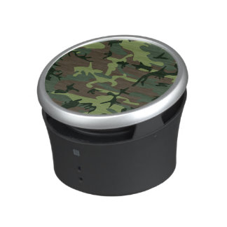 Camouflage Camo Green Brown Pattern Bluetooth Speaker