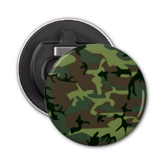 Camouflage Camo Green Brown Pattern Bottle Opener