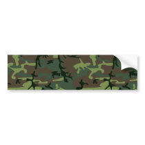 Camouflage Camo Green Brown Pattern Bumper Sticker