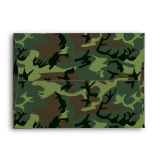 Camouflage Camo Green Brown Pattern Envelope