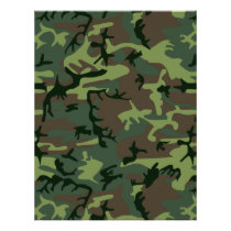 Camouflage Camo Green Brown Pattern Flyer