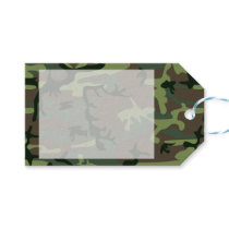 Camouflage Camo Green Brown Pattern Gift Tags