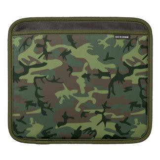 Camouflage Camo Green Brown Pattern iPad Sleeve