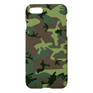 Camouflage Camo Green Brown Pattern iPhone 7 Case