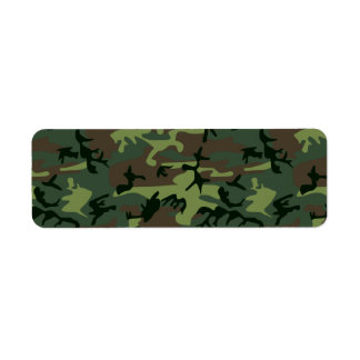 Camouflage Camo Green Brown Pattern Label