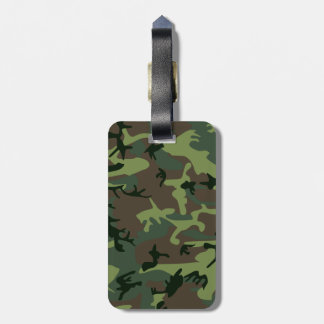 Camouflage Camo Green Brown Pattern Luggage Tag