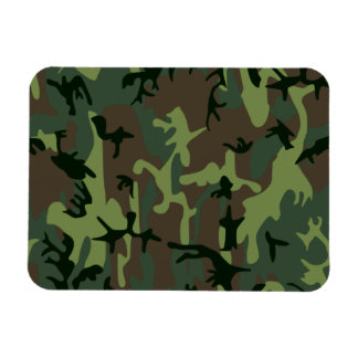 Camouflage Camo Green Brown Pattern Magnet