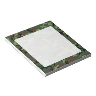 Camouflage Camo Green Brown Pattern Notepad