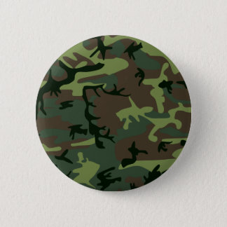 Camouflage Camo Green Brown Pattern Pinback Button