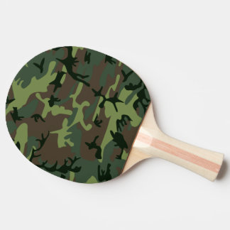 Camouflage Camo Green Brown Pattern Ping-Pong Paddle