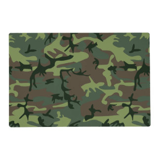 Camouflage Camo Green Brown Pattern Placemat